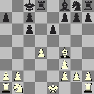 White's move, after the exchanges of queens