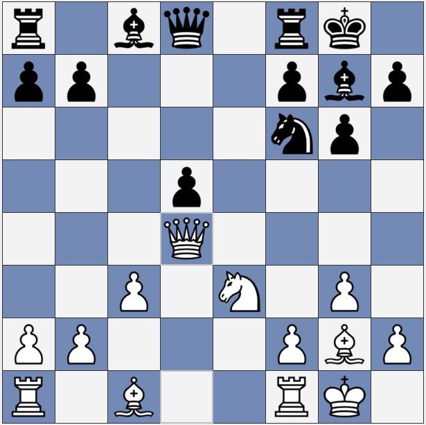 Before Black's 13th move in this chess game in South Jordan, Utah