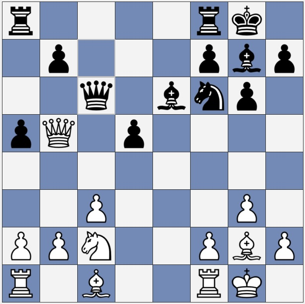 Black just moved Qc6 - not the best move